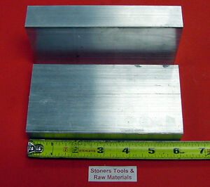 2 Pieces 1 1 2 X 4 Aluminum 6061 Flat Bar 6 Long Solid Plate Mill Stock 1 50