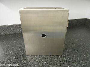 Used Hoffman A 12106chnss Junction Box With Clamps 12 X 10 X 6