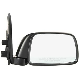 Manual Mirror For 1995 2000 Toyota Tacoma Passenger Side Textured Black