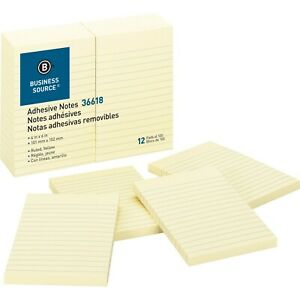 For Schools Sticky Notes Ruled 100 Sh pad 4x6 Yellow Colors 200 Pads