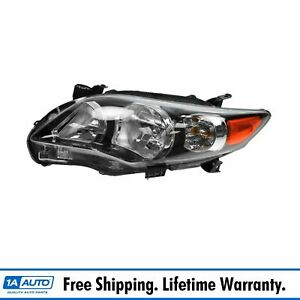 Black Housing Headlight Headlamp Driver Side Left Lh For 11 13 Corolla Xrs S