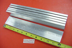 6 Pieces 1 2 X 2 Aluminum 6061 Flat Bar 12 Long T6511 50 Plate Mill Stock
