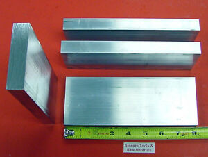 4 Pieces 5 8 X 3 Aluminum 6061 Flat Bar 8 Long 625 Solid Plate Mill Stock