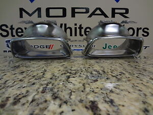 11 14 Dodge Charger New Chrome Stainless Steel Exhaust Tip Set Of 2 Mopar Oem