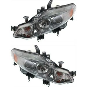 Headlight Set For 2009 2014 Nissan Murano Left And Right With Bulb 2pc
