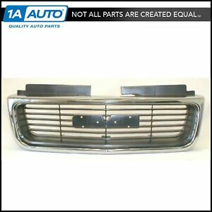 Chrome Argent Grille Grill For Gmc Envoy Jimmy Pickup S 15 Sonoma Truck