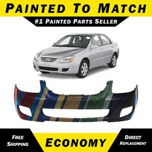 New Painted To Match Front Bumper Fascia For 2007 2009 Kia Spectra Sedan Ex Lx