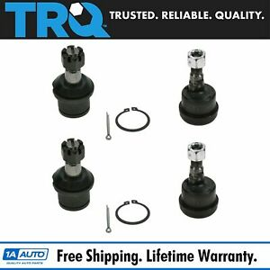 Front Upper Lower Ball Joints Set Of 4 For 03 12 Dodge Ram 2500 3500 4wd