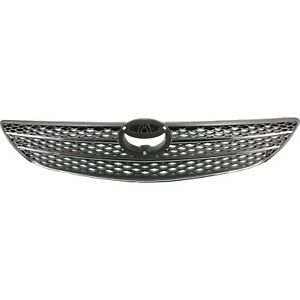 Grille For 2002 2004 Toyota Camry Gray Plastic