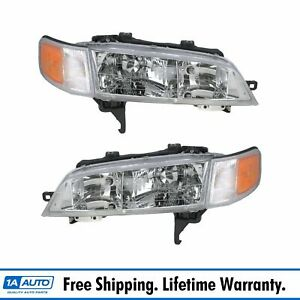 Headlights Headlamps Left Right Pair Set New For 94 97 Honda Accord