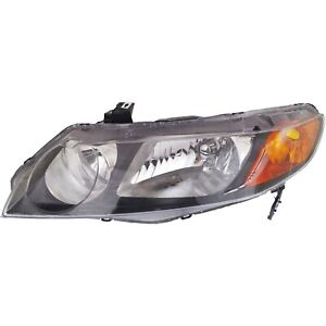 Headlight For 2006 2007 2008 Honda Civic Dx Ex Gx Lx Models Sedan Left