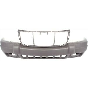 Front Bumper Cover For 99 2003 Jeep Grand Cherokee W Fog Lamp Holes Textured