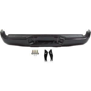Step Bumper For 05 15 Toyota Tacoma Black Steel W Brackets Pads Fleet Styleside