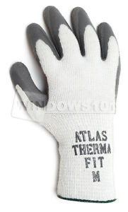 12 Pair Atlas Showa Fit 451 300i Thermal Fit Rubber Coated Work Glove Warm Small