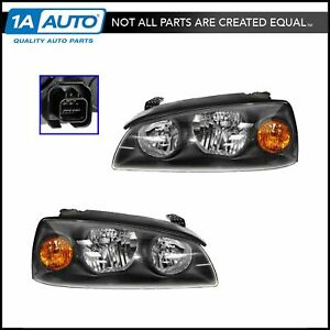 Headlights Headlamps Left Right Pair Set For 04 06 Hyundai Elantra