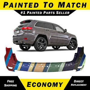 New Painted To Match Rear Bumper Cover For 2011 2015 Jeep Grand Cherokee 11 15