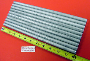 10 Pieces 1 2 Aluminum 6061 Round Rod 12 Long Solid 50 T6511 Lathe Stock