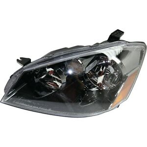 Headlight For 2005 2006 Nissan Altima Left Black Housing With Bulb