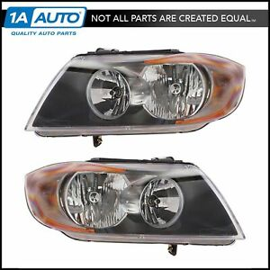 Headlamp Headlight Left Right Pair Set Of 2 For 325i 325xi 328i 330i 335i M3