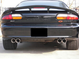 Pair Stainless Steel Dual Exhaust Tips 2 5 3 5 2 5 3 5 Camaro Trans Am Chevy
