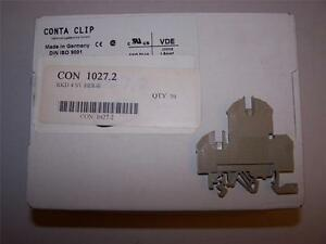 Conta Clip Rkd 4 Sv 1027 2 Terminal Block 4mm New In Box Lot Of 50