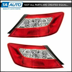 Taillight Taillamp Pair For Honda Civic Coupe 2006 2007