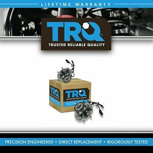 Trq 2 Front Wheel Hubs Bearings Pair Set W Abs For Chevy Gmc Truck 4x4 4wd
