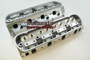 Small Block Ford Aluminum Bare Cylinder Head Pair Sbf 64cc 185cc Straight Plug