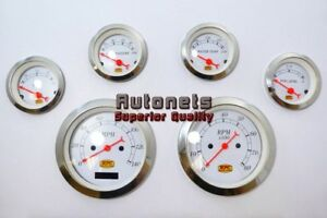 Vintage 6 Digital Gauge Sets Electrical Speedometer Street Hot Rod Chevy Ford