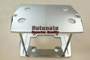 Chromed Aluminum Smooth Plain Optima Battery Tray Hold Down Red Yellow Group 35