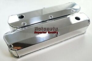 Polish Fabricated Aluminum Valve Cover Small Block Ford 260 289 302 351w Mustang