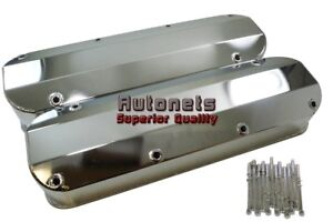 Chromed Fabricated Aluminum Ford Big Block Valve Covers 1968 Up V8 429 460 Bbf