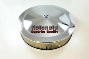14 Round Muscle Car Chrome Air Cleaner Filter Hot Street Rat Rod High Lip Base