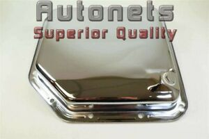 Chevy Gm Buick Pontiac Chrome Steel Th 350 Transmission Pan Smooth Plain Stock