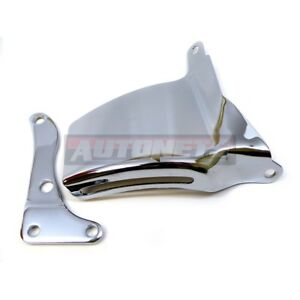 Sbc Chevy Chrome Alternator Bracket Long Water Pump Lwp Passenger Small Block