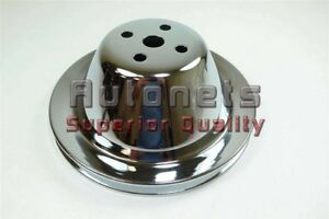 Chrome Steel Small Block Chevy Sbc Short Water Pump Upper Pulley 1 Groove Swp