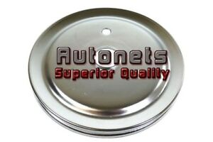 Small Block Chevy Sbc Chrome Crank Pulley Short Single 1 Groove Chevrolet Lower