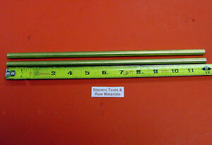 38 Pieces 3 8 C360 Brass Round Rod 12 Long 375 H02 Solid Lathe Bar Stock