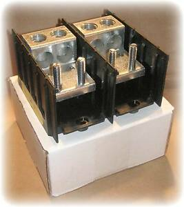 Barrier Terminal Power Distribution Block 2p 175a 600vac dc 3 8 Stud