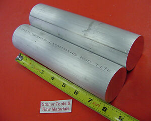2 Pieces 2 3 8 Aluminum 6061 Round Rod 8 Long Solid Lathe Bar Stock 2 375