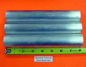 3 Pieces 1 3 4 Aluminum 6061 Round Rod 8 Long Solid 1 750 T6511 Bar Stock