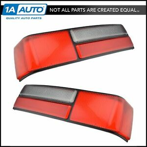 Taillight Taillamp Lens Left Right Pair Set New For 87 93 Ford Mustang
