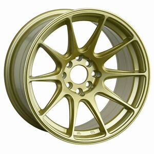 16x8 25 Xxr 527 Wheels 4x100 114 3 Rim 0mm Gold Fits Miata 90 05