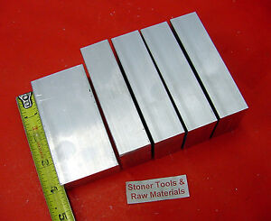 5 Pieces 1 X 1 1 2 Aluminum 6061 Flat Bar 4 Long T6511 Solid 1 000 Mill Stock