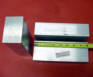 3 Pieces 1 X 1 1 2 Aluminum 6061 Flat Bar 8 Long T6511 Solid 1 000 Mill Stock
