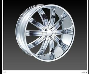 24 Red Sport Rsw11 Wheels Rims Tires Fit Chevy Ford 6 5 Lug Truck Or Suv Deal