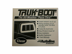 Auto Line Truk Inflatable Boot Camper Shell Topper Cap Seal Mid Size Truck 2000