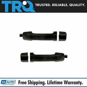 Rear Outside Textured Black Door Handle Pair Set For 07 13 Toyota Tundra Crewmax