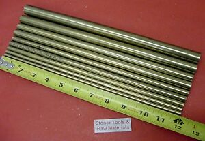1 4 To 3 4 C360 Brass Round 9 Pc Assortment Rod 12 Long Lathe Bar Stock 5 66