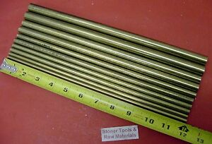 1 4 To 5 8 C360 Brass Round 10 Pc Assortment 12 Long Lathe Bar Stock 5 44